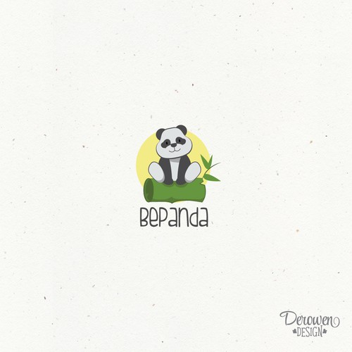 Playing panda logo concept.