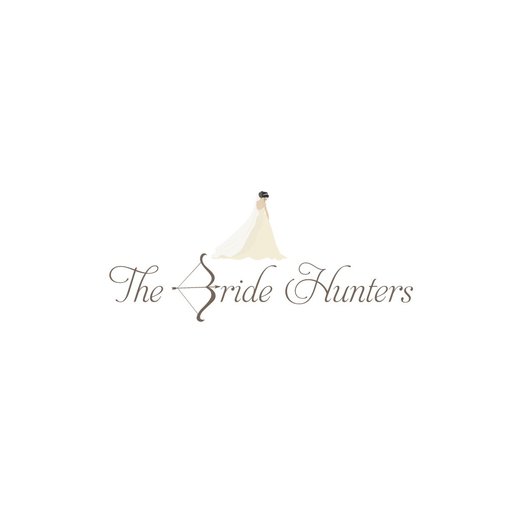 Create a romantic logo for The Bride Hunters and feel free to be creativ