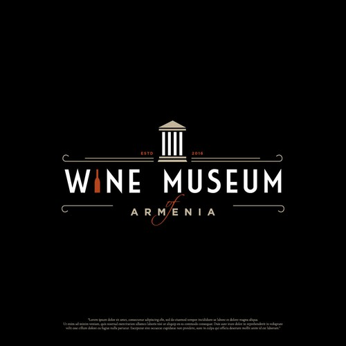 Logo design for wine museum