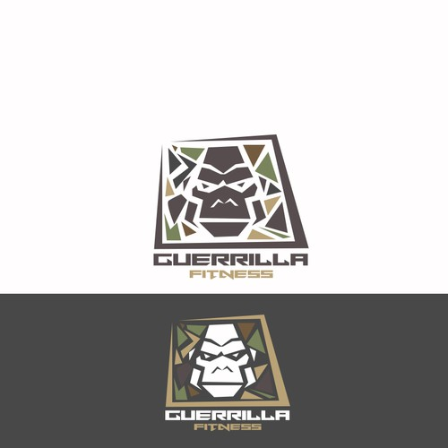 be creative and have lots of fun! create a guerilla gorilla logo with company name and slogan,