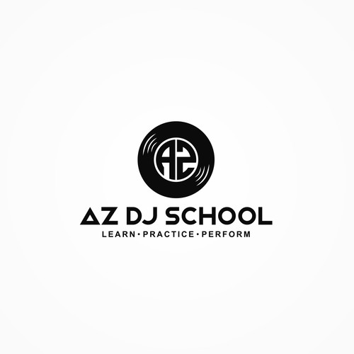 Modern clean logo concept design for dj school