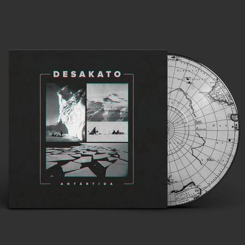 "Desakato ""Antártida"" album artwork. Discos Furia."