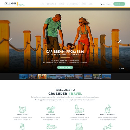 Design 2 web pages for a small travel agent