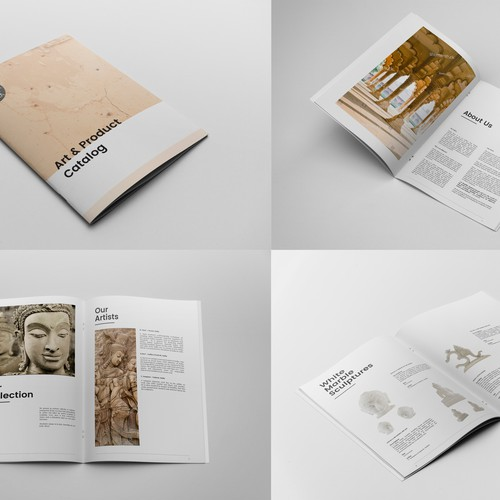 Product catalogue for art store