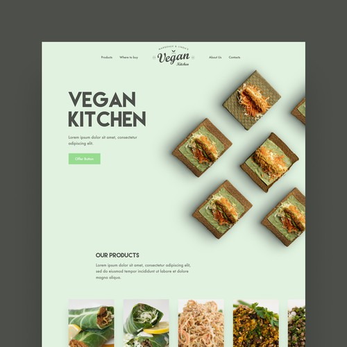 Vegan Kitchen landing page