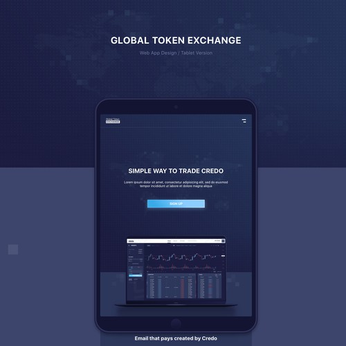 Web App for a Cryptocurrency exchange platform