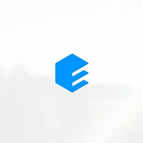 E building logo