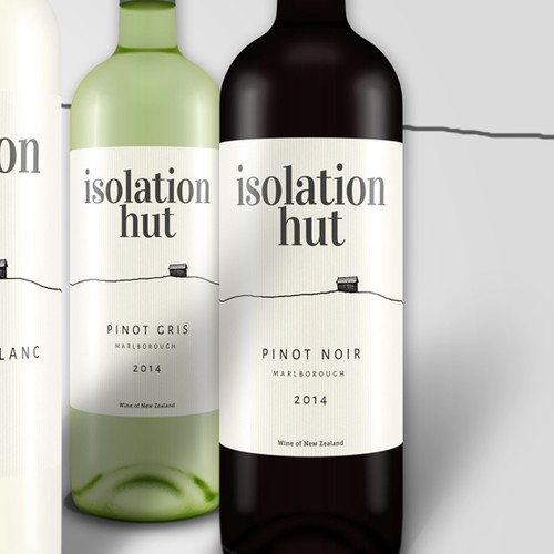 Isolation Hut wine label