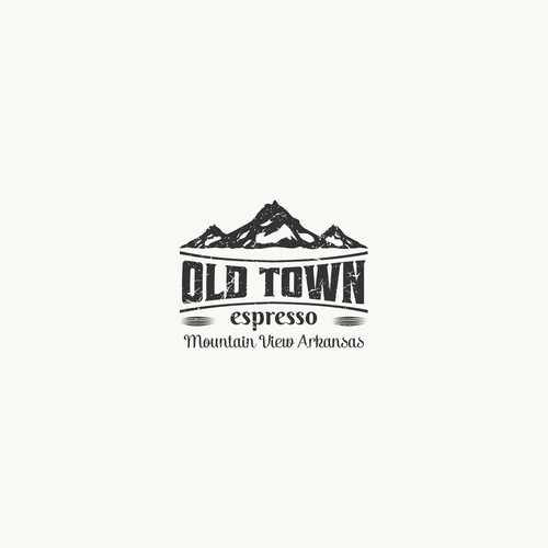 Design a logo for my Espresso/Ice cream with an Old Town Setting