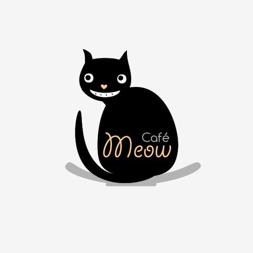 猫カフェ 「Café Meow」のロゴ作成