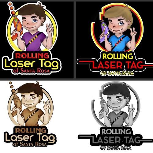 Logo for mobile laser tag business.
