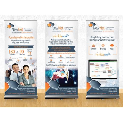 Create Trade Show Banner For Global Telecom Provider