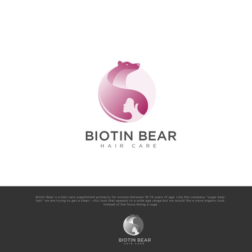 logo for Biotin Bear is a hair care supplement