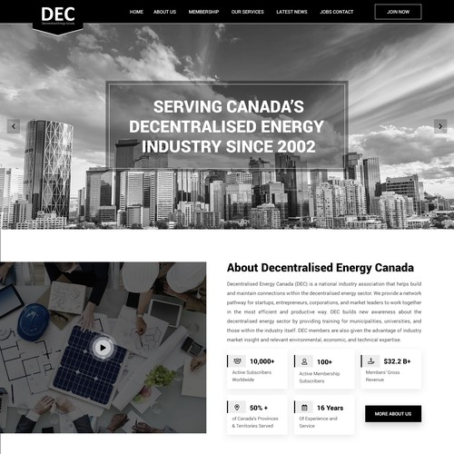 Decentralised Energy Canada Website Redesign