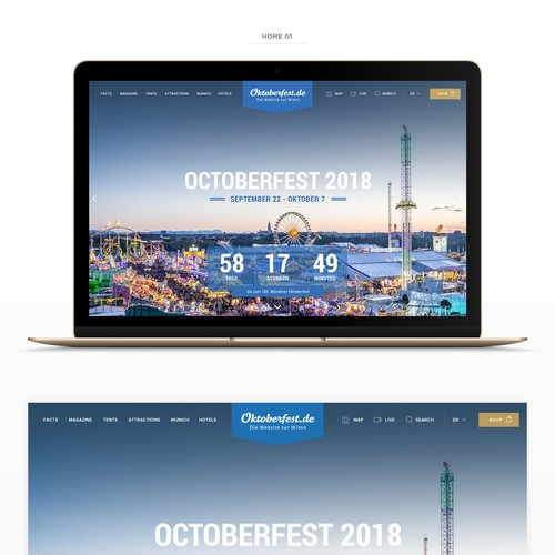 Webdesign for the famous Oktoberfest