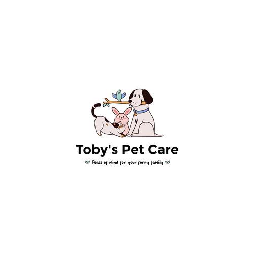cute animals logo for pet care
