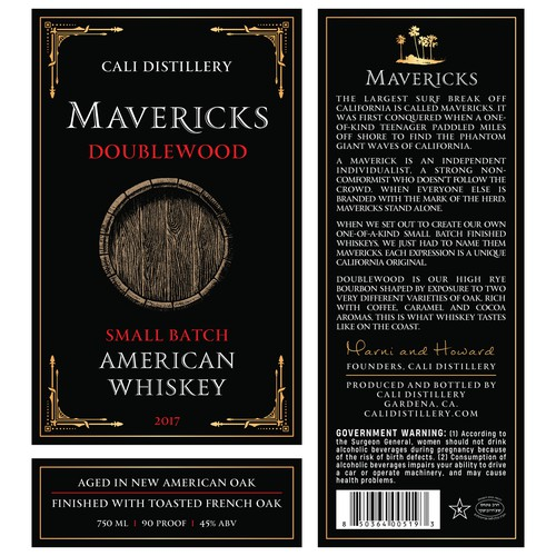 Design our new California whiskey label