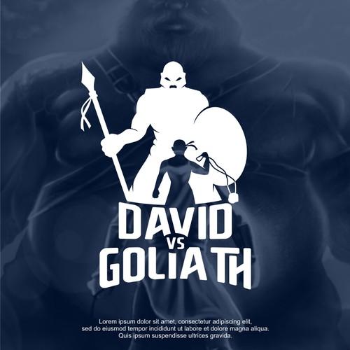 David vs Goliath bold logo design