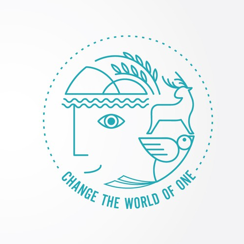 Clean logo design for an org that changes the world by connecting with and helping one person/animal at a time