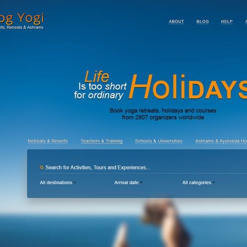 Yog Yogi Landing page design