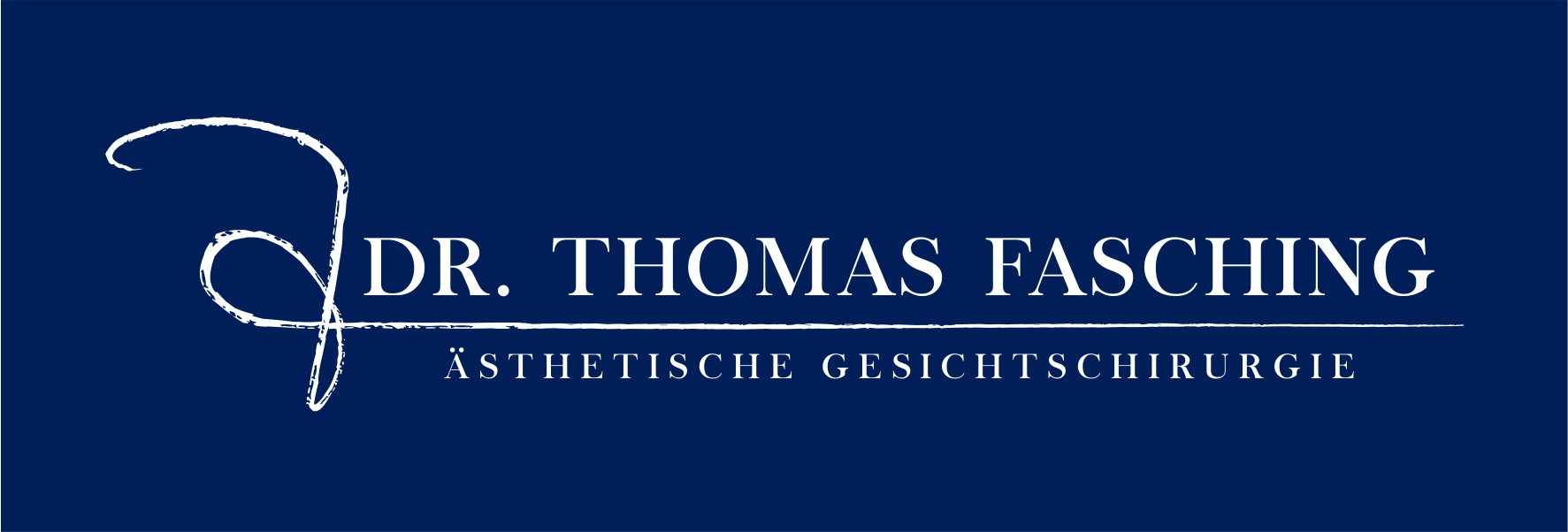 Logo an CI for Dr. Thomas Fasching, Specialist in esthetic Rhinoplasty