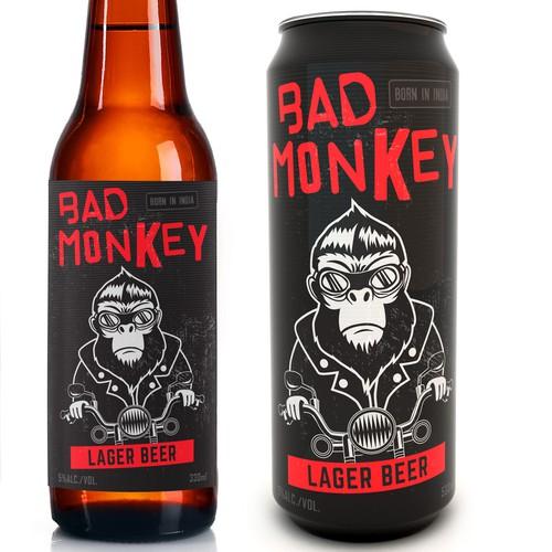 A modern playful beer label