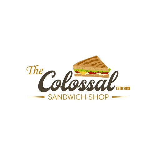 1940s Logo for The COLOSSAL Sandwich Shop!!