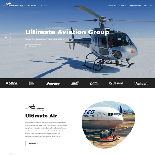Website Design for Ultimate Aviation Group