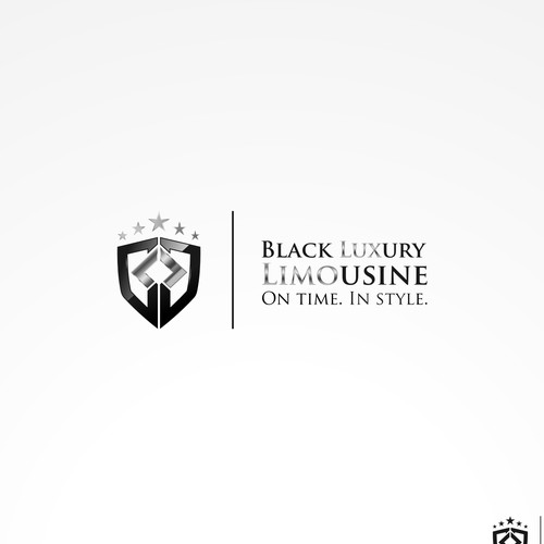 Logo and business card for a new Luxury Limo company.