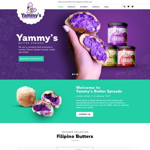 vibrant web design for novelty food company