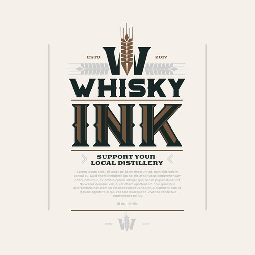 Logo concept for wisky brand and distillery