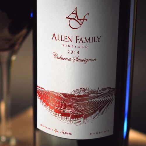 Allen Family Wine Label