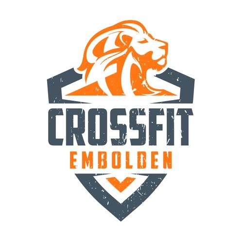 Crossfit Gym powerful logo