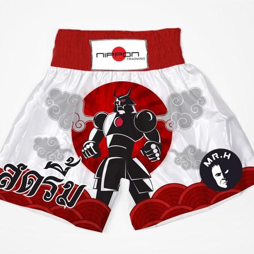 Muay Thai Team Shorts Design