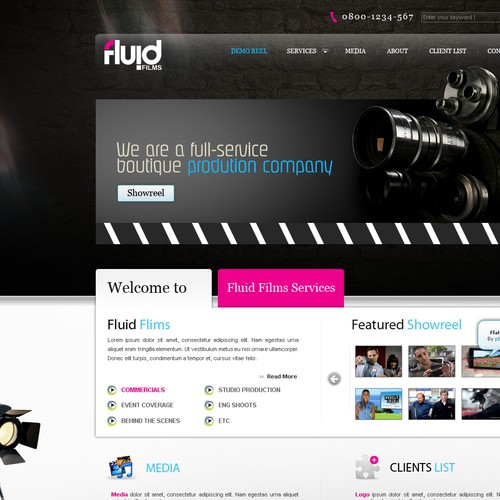 WEB SITE DESIGN _ Fluid Films Productions Inc