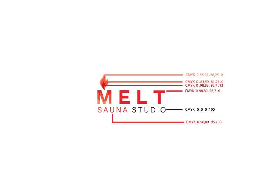 Design a modern logo for Melt Sauna Studio