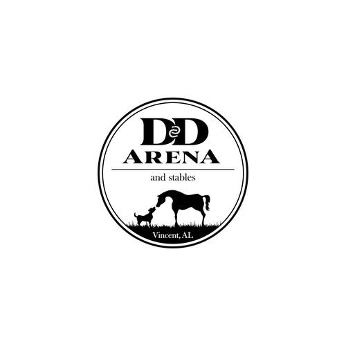 Logo concept for Horseback Riding Center in Vincent, Alabama