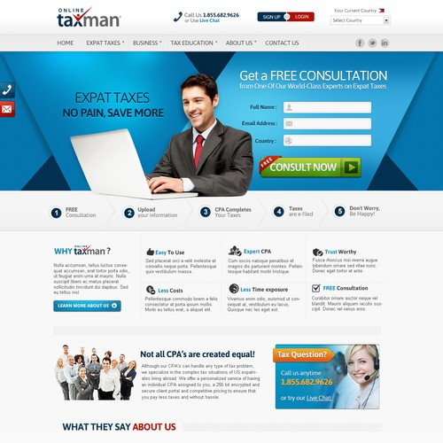 Sleek design for online taxman