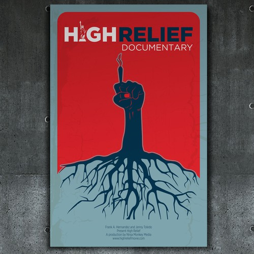 High Relief Poster Design