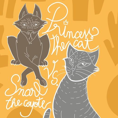 Children book cover illustration