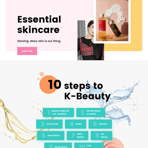 E-commerce for korean beauty products