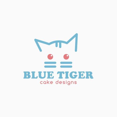 Cute Tiger Cub Character for Custom Cake Shop