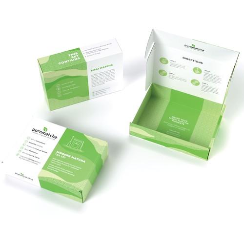 Mailer box design for matcha tea set