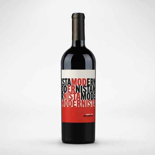 Modernista Wine label