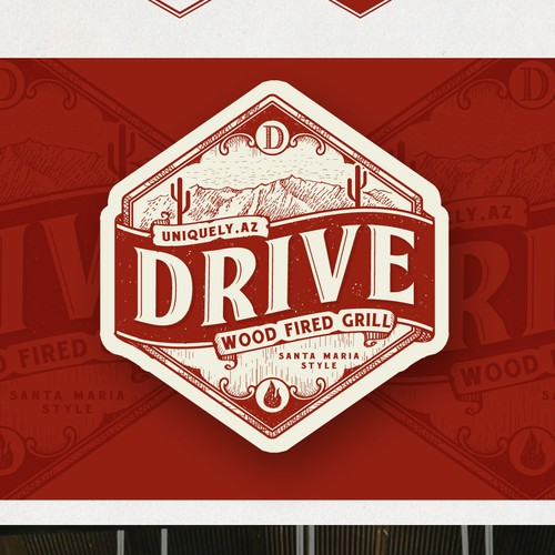 Logo Design for Drive- Wood Fired Grill