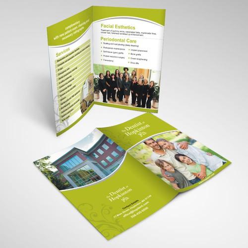 Create a modern brochure for a cool dental office!