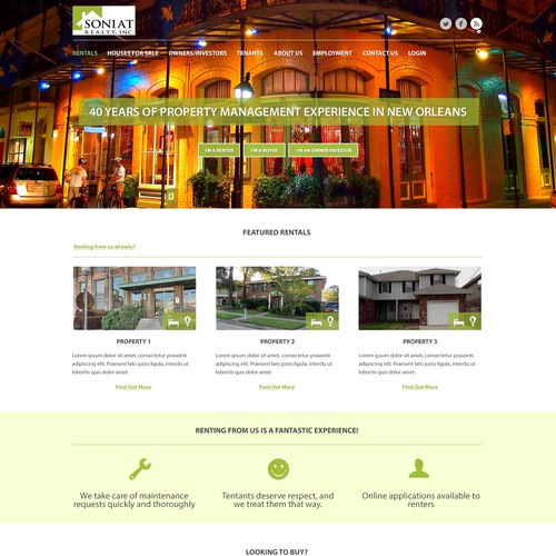 New Orleans Website Landing Page