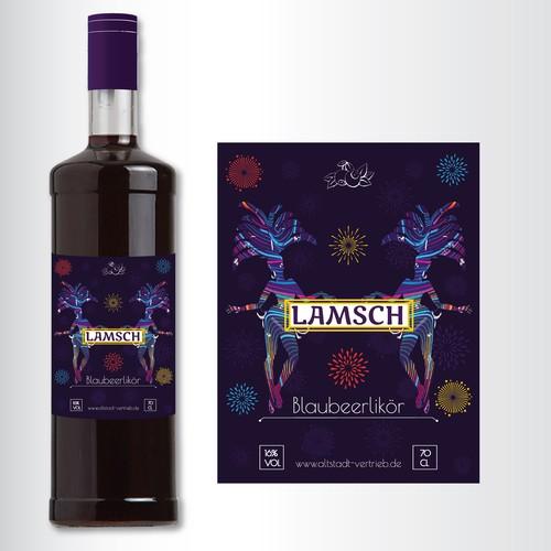 label for blueberry liqueur