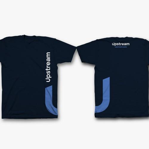 T shirt design for Upstream