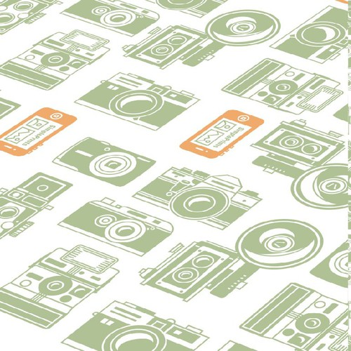 Wrapping paper design for fun photo book iPhone App!